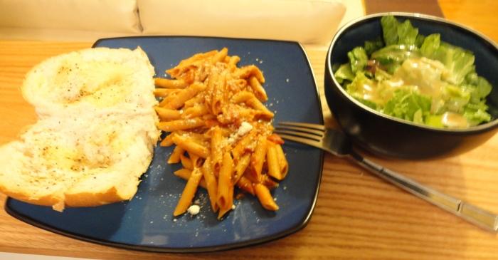 penne pasta dinner