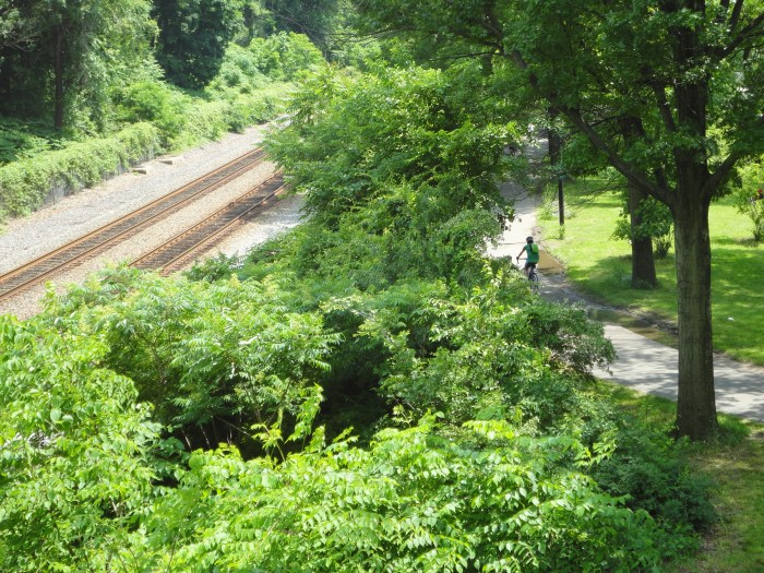 paths less traveled - railroad & bike path along Hudson River