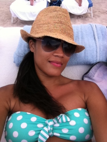 relaxing in the beachside bed