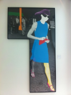 anna wintour picture in hallway
