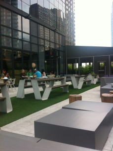 outdoor terrace area
