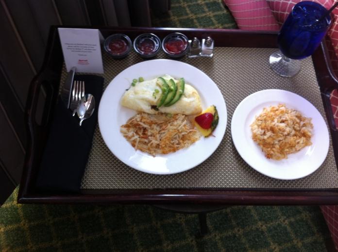 room service - working breakfast