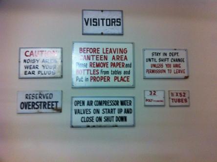 enterprise mill - vintage signs