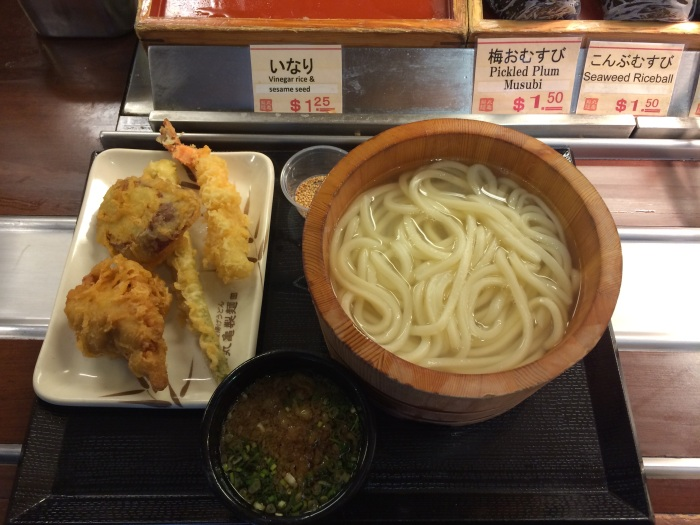 kamaage udon and tempura sides