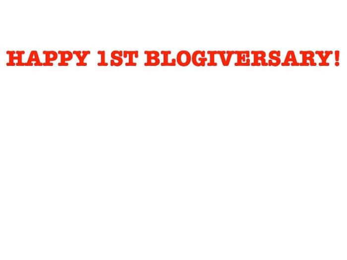 blogiversary 1