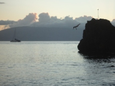 sheraton black rock cliff dive