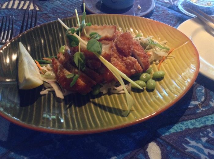 wasabi crusted calamari