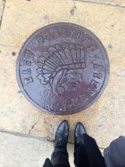 sidewalk outside of chhaya cafe, philadelphia