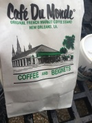 cafe du monde bag park bench