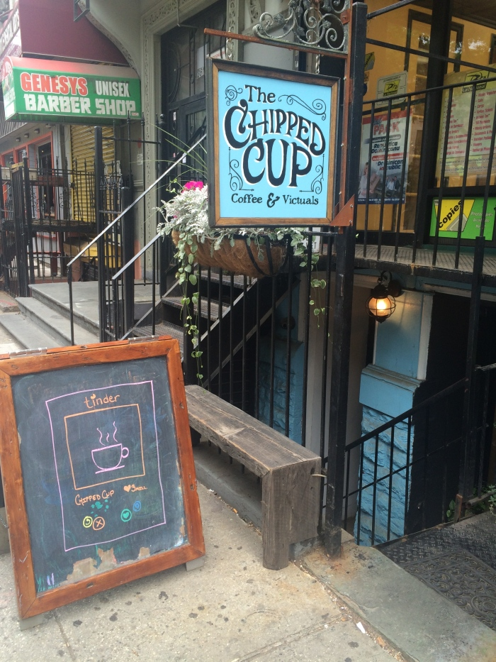 chipped cup coffee shot harlem