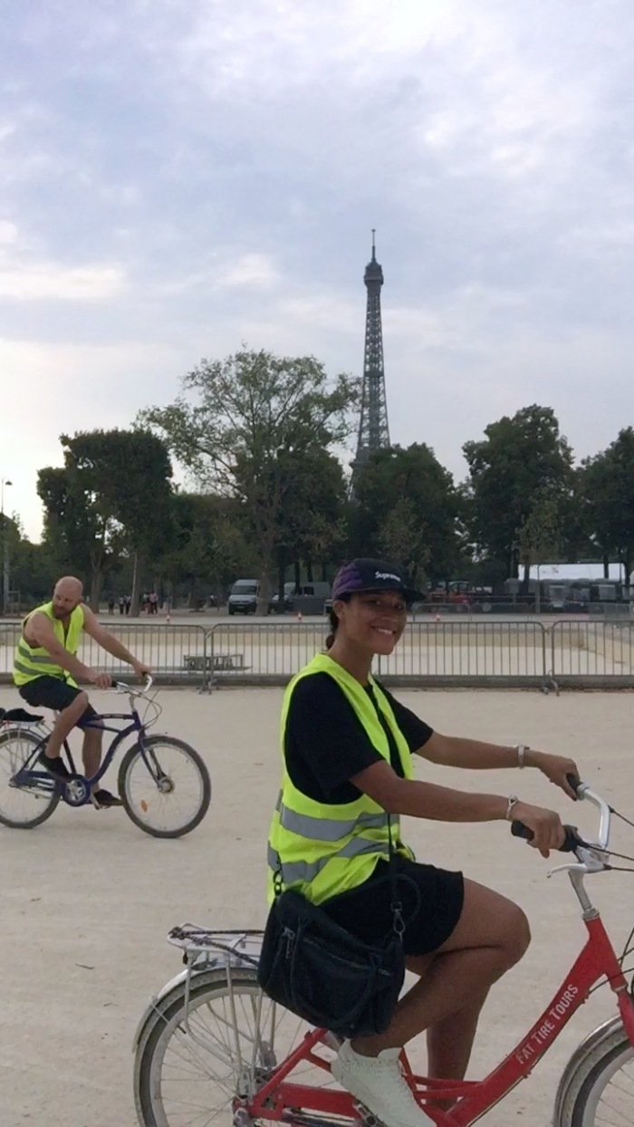 You know, just riding a bike past the Eiffel Tour, no big deal