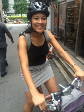 biking through tokyo